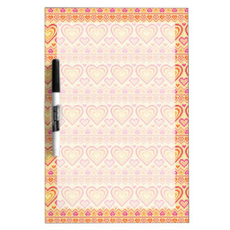 Valentine's Day Knitted Pattern Dry Erase Whiteboards