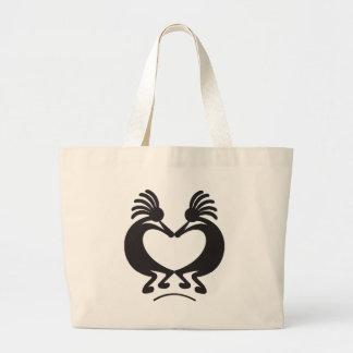 Valentine's day Kokopelli Large Tote Bag