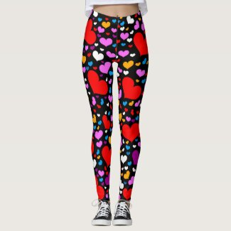 Valentine's Day Leggings; Coming & Going Beautiful Leggings