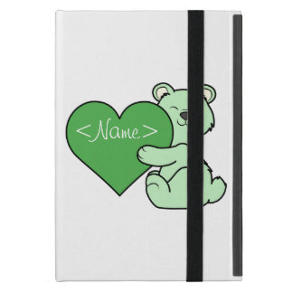 Valentine's Day Light Green Bear with Heart iPad Mini Case
