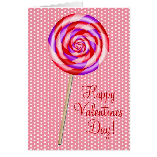 Valentines Day Lollipop  Note Cards