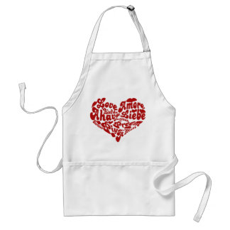 Valentines Day Love All the Words for LOVE Adult Apron