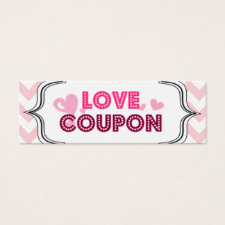 Valentine's Day Love Coupons Mini Business Card