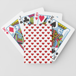 Valentine's Day Love Cute Red Hearts Pattern Bicycle Playing Cards