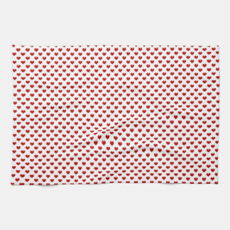 Valentine's Day Love Cute Red Hearts Pattern Kitchen Towels