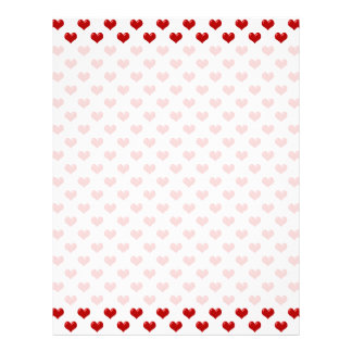 Valentine's Day Love Cute | Red Hearts Pattern Letterhead
