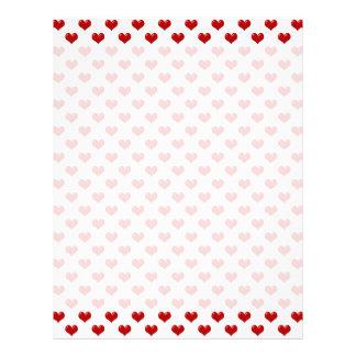 Valentine's Day Love Cute Red Hearts Pattern Letterhead