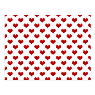 Valentine's Day Love Cute Red Hearts Pattern Postcard