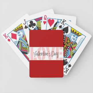 Valentine's Day LOVE Gifts Red Pink White Stripe Bicycle Playing Cards