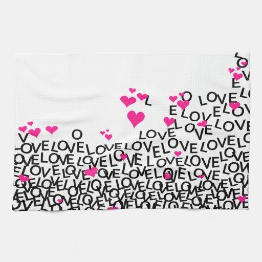 Valentine's Day Love Kitchen Towel