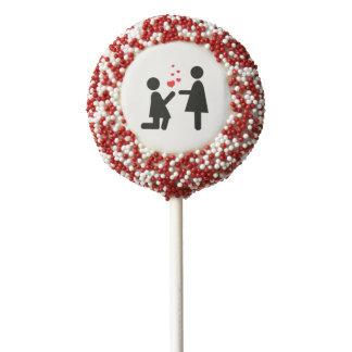 Valentine's Day Love Lesbian LGBT Pride Chocolate Covered Oreo Pop