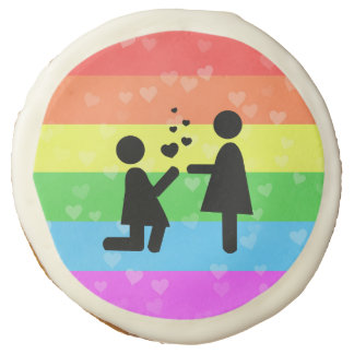 Valentine's Day Love Lesbian LGBT Pride Sugar Cookie