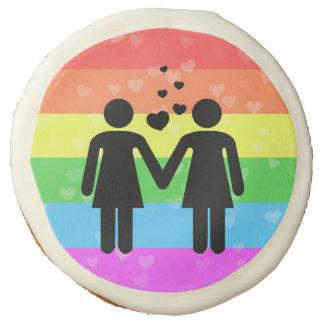 Valentine's Day Love Lesbian Rainbow LGBT Pride Sugar Cookie