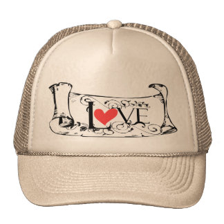 Valentine's day love letter hat for men