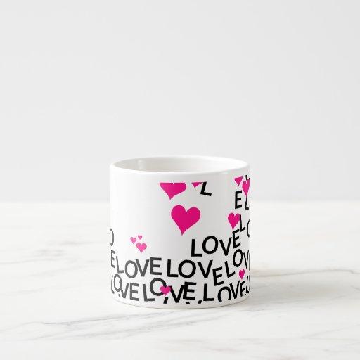 Valentine S Day Love Mug 6 Oz Ceramic Espresso Cup Zazzle