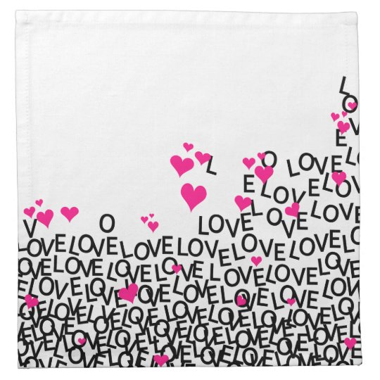 Valentine's Day Love Napkin