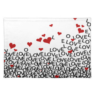 Valentine's Day Love Placemat Cloth Placemat