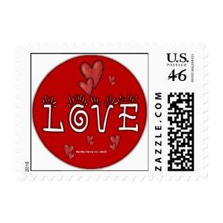 Valentine's Day Love Postage (4) stamp