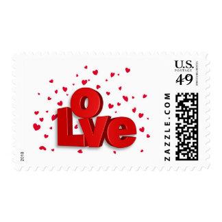 Valentine's Day Love Postage Stamp