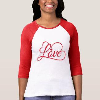 "Valentine's Day ""Love"" Red Word Art T-Shirt"