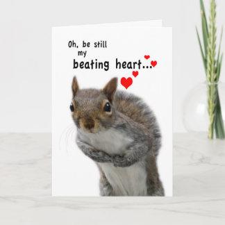 Valentine's Day Love Struck Squirrel Holiday Card