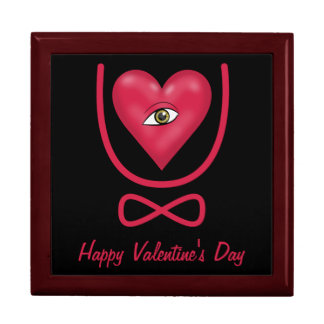 Valentine's Day love you forever Eye heart U etern Gift Box