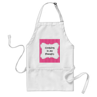 Valentine's Day Love You Pink Red Stripes Gifts Adult Apron