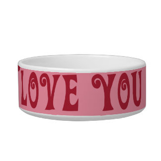Valentine's Day Love You Pink Red Stripes Gifts Bowl