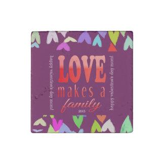 Valentine's Day Magnet for Mom Stone Magnet