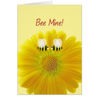 Valentine's Day Marry me! Bees in Love Card