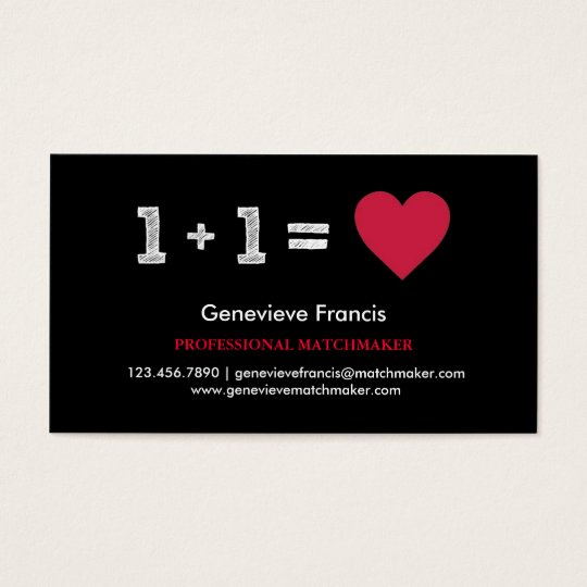 Valentine S Day Matchmaker Business Card