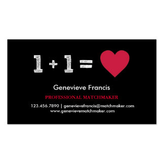 Valentine's Day Matchmaker Business Card