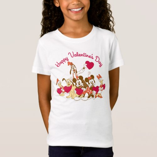 Valentines Day _ Mickey and Friends T_Shirt