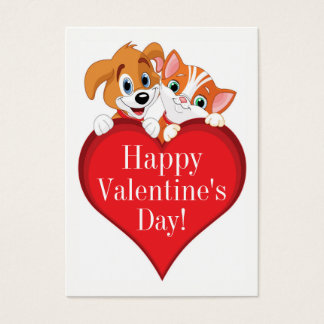 Valentine's Day Mini Cards on Business Cards