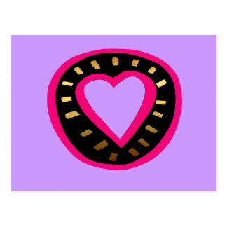 Valentine's Day Modern Pink Heart Purple Postcard2 Postcard