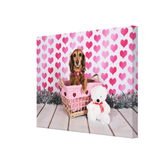 Valentine's Day - Mollie - Dachshund Canvas Print