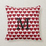 Valentine's Day Monogram Heart Pillow