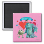 Valentine's Day - Monsters Inc. 2 Inch Square Magnet