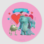 Valentine's Day - Monsters Inc. Classic Round Sticker