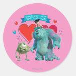 Valentine's Day - Monsters Inc. Classic Round Sticker