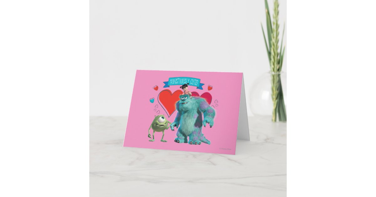 Valentine's Day - Monsters Inc. Holiday Card | Zazzle.com