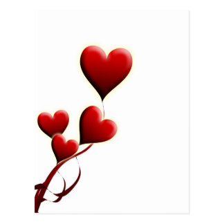 Valentine's Day motive postcard
