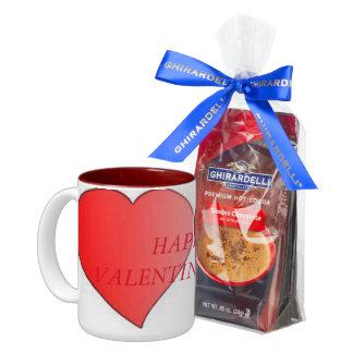 valentine's day mug and ghiradelli chocolate