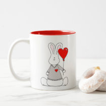 Valentine's Day Mug with Banni and a Heart