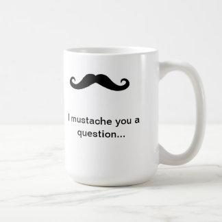 Valentine's Day Mustache Classic White Coffee Mug