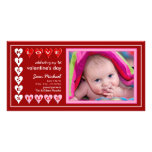 Valentine's Day - New Baby Announcement Picture Card