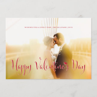 Valentine's Day Newly Weds Photo Card Die Cut
