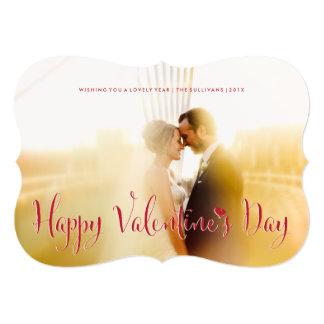 "Valentine's Day Newly Weds Photo Card Die Cut 5"" X 7"" Invitation Card"