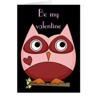 Valentine's Day - Night Owl Friends Card