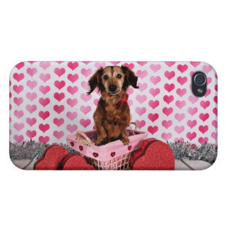 Valentine's Day - Oakley - Dachshund iPhone 4/4S Cover